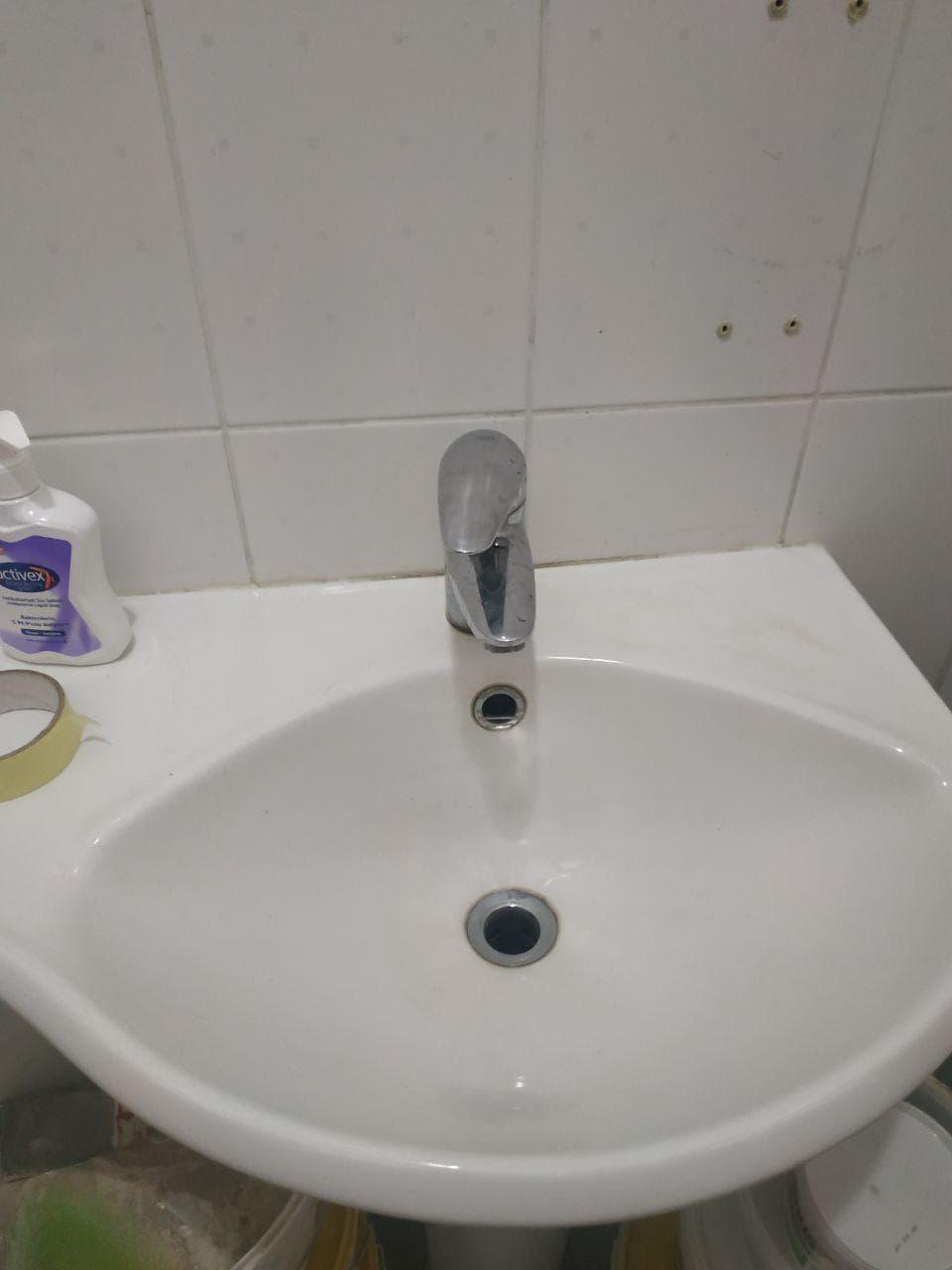 Мытье раковины - фото до