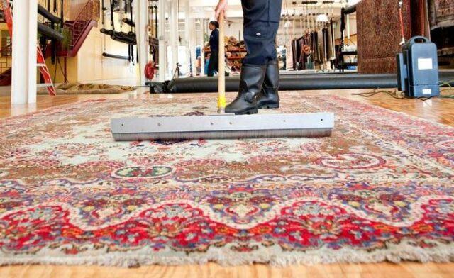 Преимущества чистки ковров в цеху