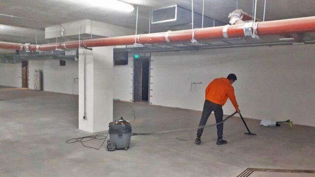 Уборка подземного паркинга